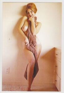 Postcard-Pinup-Risque-Nude-Stunning-Girl-Extremely-Rare-Photo-Post-Card-9450