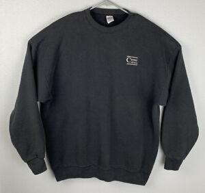 Vintage-Soffe-Heavy-Sweats-Black-Pullover-Sweatshirt-Mens-XXL-2XL