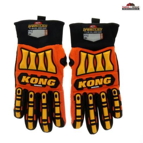 Ironclad KONG Slip /& Oil Resistant Gloves ~ New
