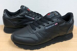 Image is loading WOMENS-REEBOK-CLASSIC-LEATHER-Black-Black-5324-ATHLETIC