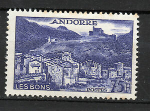 Andorra-French-Post-1955-75-Francs-Landscapes-New-MH