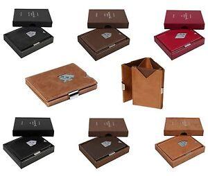 Exentri-Wallet-Kartenetui-Leder-RFID-Schutz-Kartenboerse-Kreditkartenetui-Slim