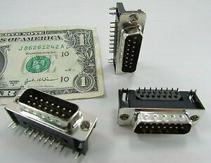 Amphenol-8-Pin-De-Oro-Macho-de-15-posiciones-D-Sub-cable-para-tablero-de-mandos-impreso-DB15M
