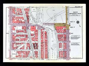 Harlem Nyc Map.1955 Bromley New York City Map Harlem Lane Colonial Park Broadway