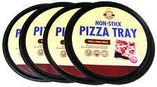 """4 x 12 """"Pollici ANTIADERENTE PIZZA PER COTTURA FORNO VASSOIO PAN TIN 31,5 cm-lavabile in lavastoviglie"""