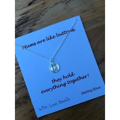 Mums are like Buttons Necklace