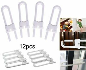 Details about 4~12 Sliding Child Safety Cabinet Lock U Shaped Baby Proof  Cupboard Kitchen Lock