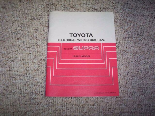 1986 Toyota Supra Factory Original Electrical Wiring