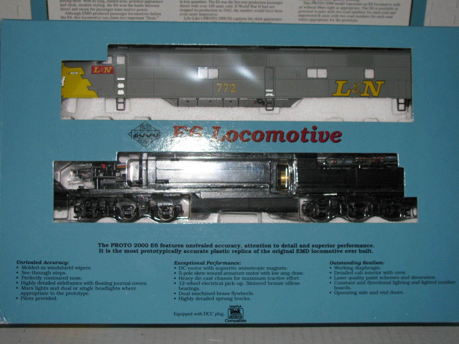 Life Like Proto 2000 HO scale  23190 Louisville & Nashville E6 Locomotive  772