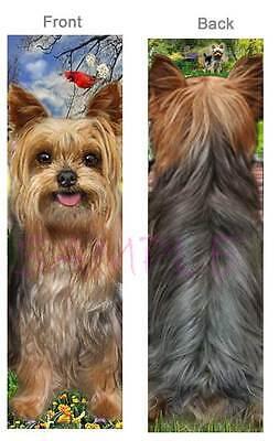 YORKIE BOOKMARK Puppy ART Back DOG Lover Fun Book Mark Card Figurine Ornament