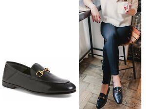 NEW~$790~GUCCI Brixton Black Leather