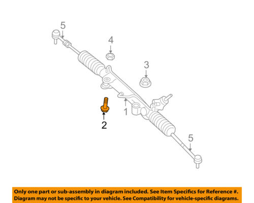 Jeep CHRYSLER OEM 05-10 Grand Cherokee Steering-Gear Assembly Bolt 6510880AA