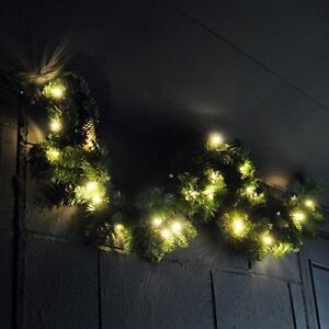 Natale-X-Large-4FT-Luxury-LIGHT-Up-LED-PRE-ILLUMINATO-GHIRLANDA-DECORATA-Natale-Frutti-di-Bosco
