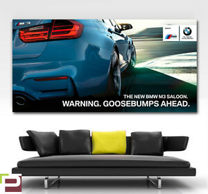 2014 BMW M3 Poster, Wall Art, LARGE IMAGE, GIANT POSTER, M Sport, M Performance