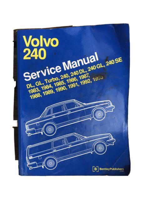 Volvo 240 Bentley Repair Service Manual 1983