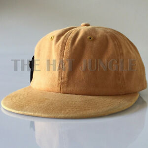 0d3e4319809 Details about Dyed Mustard Plain Unstructured Dad Hat Buckle Strap Cap Flat  Bill Low Profile