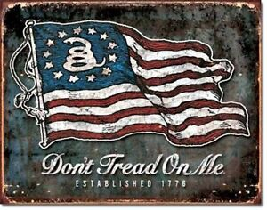 Dont Don/'t Tread On Me License Plate Tag Wall Sign Man Cave FAST USA SHIPPING