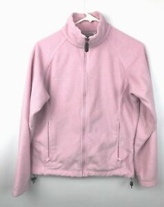 14511e8ec Columbia Women s Sweater Jacket Fleece Full Zip Light Pink Size S