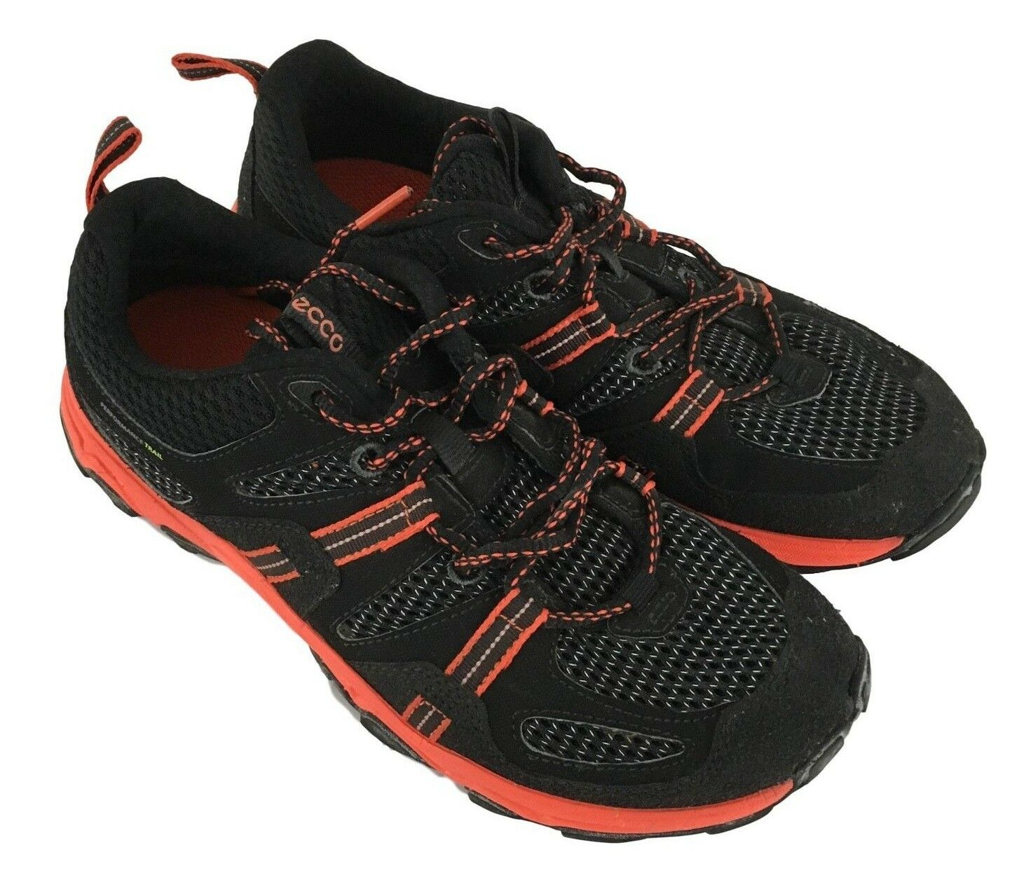 Ecco Mens Natural Motion Black Red Athletic Sneakers shoes Size 6-6.5