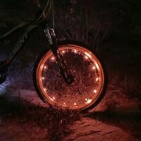 Waterproof Red Wheel Led Bicycle Safety Light Lightweight Accessory