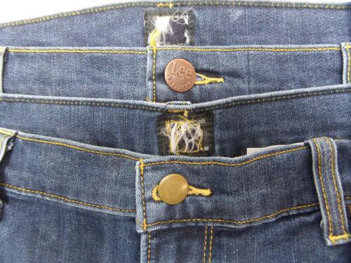 Homme Lee Luke Emerald Usé Slim Taper Fit Stretch Jeans RRP £ 80 Secondes L-46