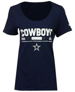 Dallas Cowboys NFL Womens Nike Scoop Logo Tee