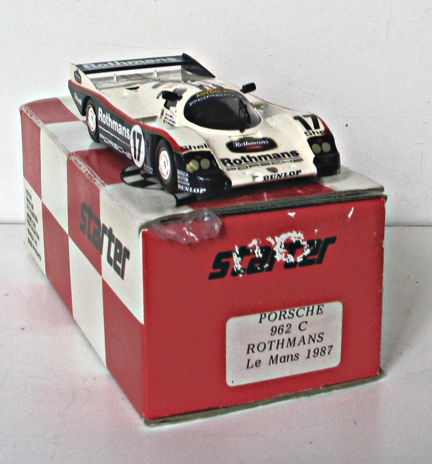 STARTER PORSCHE 962C rougehhomme Le Mans      Livraison Monde encravater  bienvenue à choisir