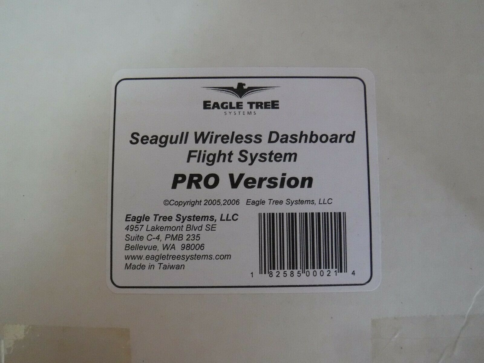 Eagle Tree wireless Dashboard Flight System, Pro Version With GPS Expander.