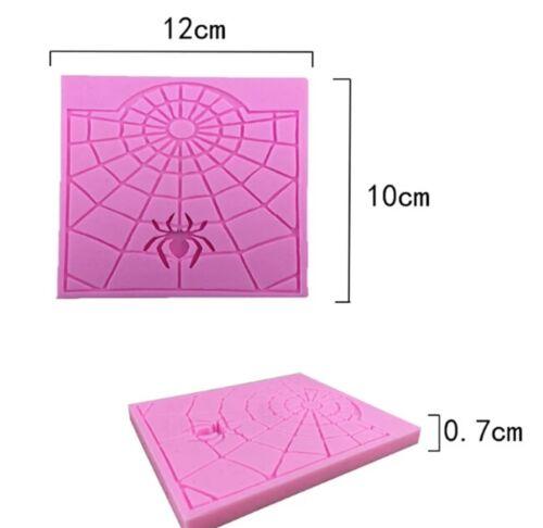 SPIDERWEB SILICONE MOULD-SPIDER MOLD-FONDANT ICING//SUGARPASTE//CAKE//SPIDERMAN-WEB