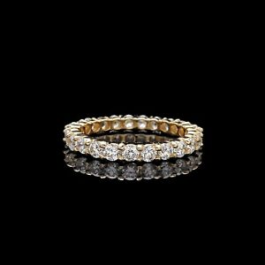 14K Gold Eternity Wedding Ring Hers Wedding Ring Handmade solid 14k gold eternity wedding band