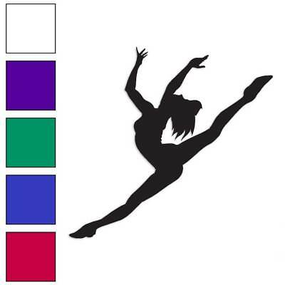 BALLERINA SILHOUETTE DANCER VINYL DECAL STICKER GIRL BALLET CHOOSE COLOR