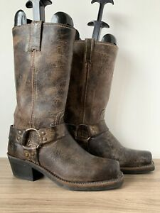 FRYE-Boots-Harness-Brown-100-Leather-6-5-Us