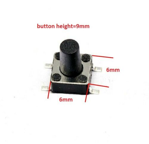 6x6 12x12mm SPST SMD Mount Small Mini Micro Momentary Tactile Push Button Switch