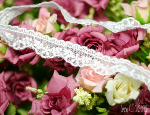 """14Yds Broderie Anglaise mesh net eyelet lace trim 0.8"""" YH1220 laceking2013"""