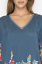 JOHNNY-WAS-Cupra-ARAXI-Embroidered-TUNIC-V-Neck-BLOUSE-Top-M-Teal-Blue-258 thumbnail 5