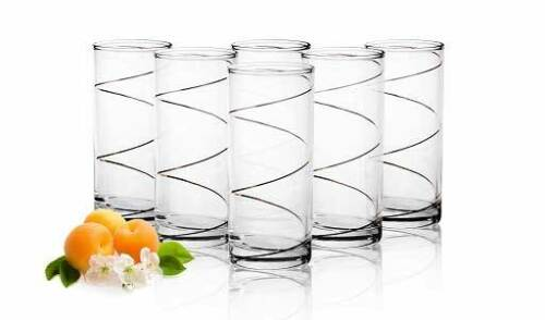 6 VERRES LONGDRINK Spiral-Motif orangeade verres 250 ml verres potable Verres