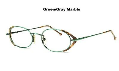 New Club LA 6306 Womens Vintage Oval Purple Brown Green Eyeglasses Frames France