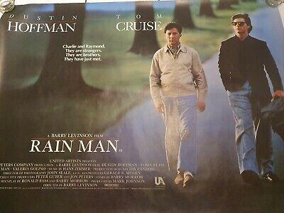 Rain Man 1988 Dustin Hoffman Tom Cruise Uk Quad Poster Ebay