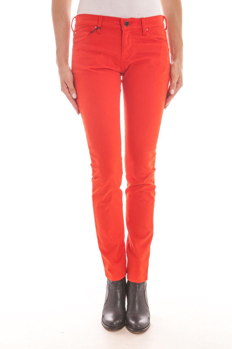 Pantaloni Armani Jeans AJ Jeans Trouser PUSH UP women Arancione B5J23PA Cam 79