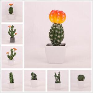 Artificielle Plante Grasse Sans Pot Faux Cactus Bureau Maison