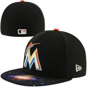 d6f5e4bf254 Miami Marlins Men s New Era 59FIFTY Baseball MLB Galaxy Fitted Hat ...