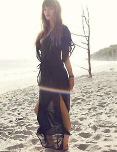 Freya Diva Maxi Dress 3472 Plunge Neck Semi Sheer Maxi Beach Dress Swimwear