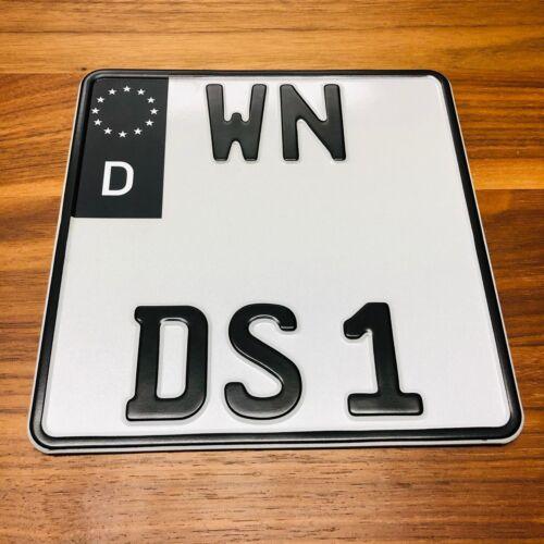 2x EU Feld Aufkleber Schwarz Matt ✔ Motorrad Kennzeichen ✔ Nummernschild Tuning
