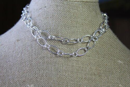 """new 18//36/"""" SILVER OVAL LINK CONVTBL TOGGLE CHAIN Origami Owl Necklace CN5049"""
