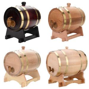 3L-5L-10L-Oak-Barrel-Wooden-Barrel-for-Beer-Wine-Whiskey-Rum-Port-Keg-USA-STOCK