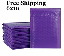 1 500 0 6x10 Poly Purple Color Bubble Padded Mailers Fast Shipping