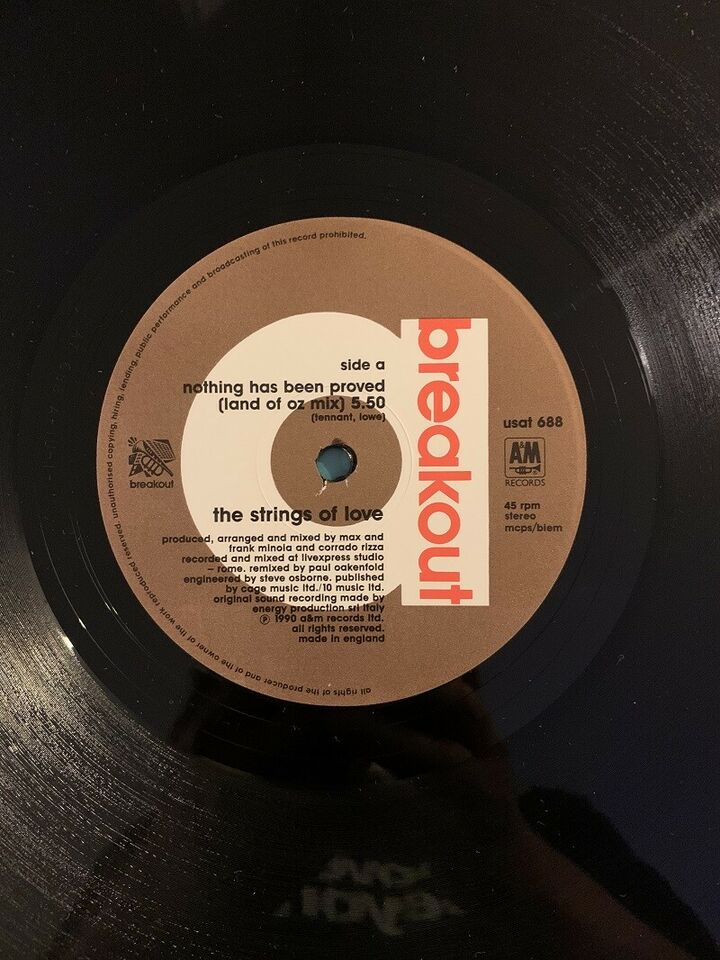 """Maxi-single 12"""", The Strings Of Love, Nothing has been"""