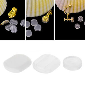50PCS-Comfort-Earring-Pads-Silicone-Anti-Pain-Cushion-Clear-for-Clip-On-Earrings