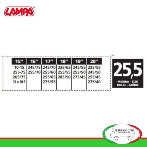 Catene da neve 255 70 16  255//70r16 16mm Lampa S16 Gruppo 25,5-16111