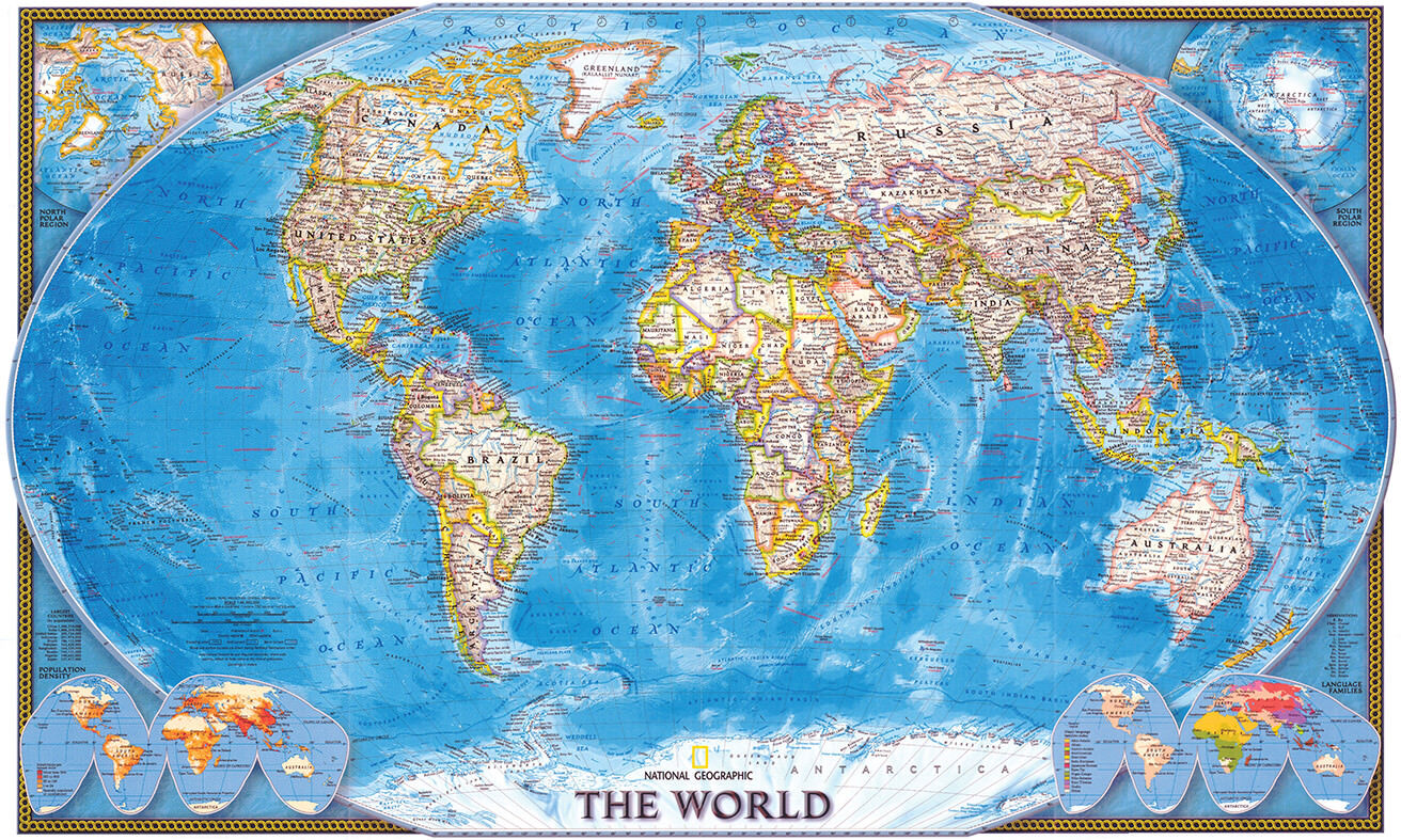 Picture of: Kids World Map Poster Giant Large Globe Wall Sticker Class Self Adhesive A1 For Sale Online Ebay